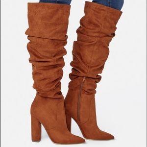 Worn once cognac/rust color knee boots